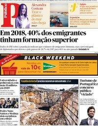 capa Público de 16 novembro 2019