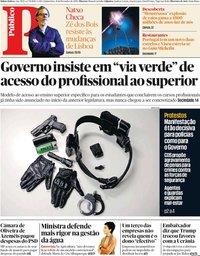 capa Público de 21 novembro 2019