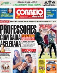 capa Correio da Manhã de 10 dezembro 2019