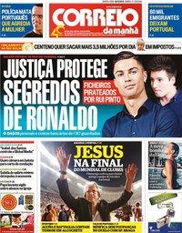 capa Correio da Manhã de 18 dezembro 2019