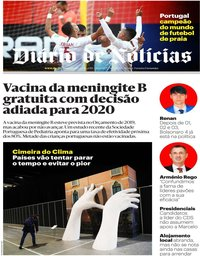 capa Diário de Notícias de 2 dezembro 2019