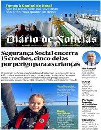 capa Diário de Notícias de 4 dezembro 2019