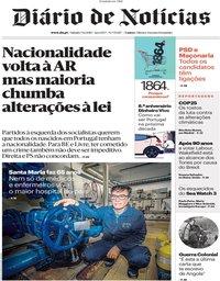 capa Diário de Notícias de 7 dezembro 2019