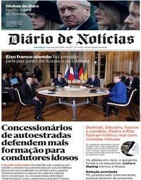 capa Diário de Notícias de 10 dezembro 2019