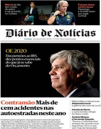 capa Diário de Notícias de 17 dezembro 2019