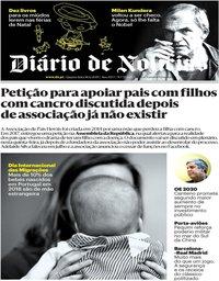 capa Diário de Notícias de 18 dezembro 2019