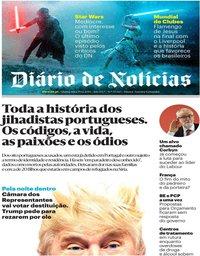 capa Diário de Notícias de 19 dezembro 2019