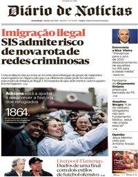 capa Diário de Notícias de 21 dezembro 2019
