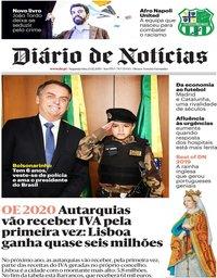 capa Diário de Notícias de 23 dezembro 2019
