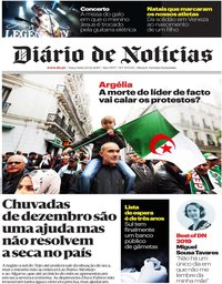 capa Diário de Notícias de 24 dezembro 2019