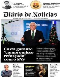 capa Diário de Notícias de 26 dezembro 2019