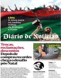 capa Diário de Notícias de 27 dezembro 2019