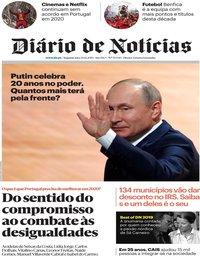 capa Diário de Notícias de 30 dezembro 2019
