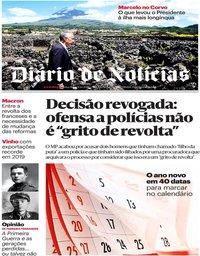 capa Diário de Notícias de 31 dezembro 2019