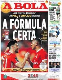 capa Jornal A Bola de 1 dezembro 2019