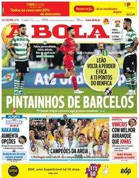 capa Jornal A Bola de 2 dezembro 2019
