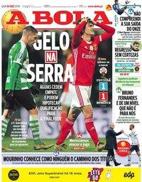 capa Jornal A Bola de 4 dezembro 2019