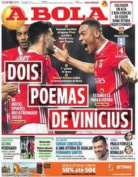 capa Jornal A Bola de 7 dezembro 2019