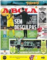 capa Jornal A Bola de 9 dezembro 2019