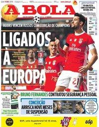 capa Jornal A Bola de 11 dezembro 2019