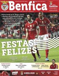 capa Jornal Benfica de 20 dezembro 2019