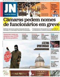 capa Jornal de Notícias de 2 dezembro 2019