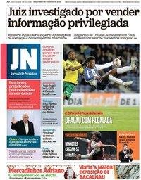 capa Jornal de Notícias de 3 dezembro 2019