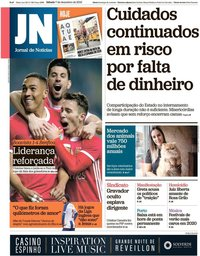 capa Jornal de Notícias de 7 dezembro 2019