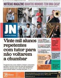 capa Jornal de Notícias de 8 dezembro 2019