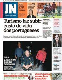 capa Jornal de Notícias de 10 dezembro 2019