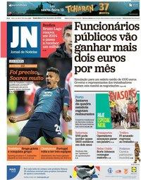 capa Jornal de Notícias de 13 dezembro 2019