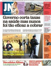capa Jornal de Notícias de 16 dezembro 2019