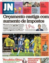 capa Jornal de Notícias de 17 dezembro 2019