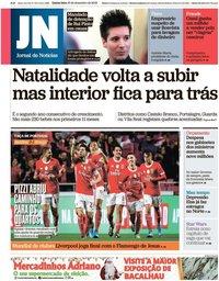 capa Jornal de Notícias de 19 dezembro 2019