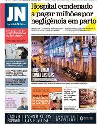 capa Jornal de Notícias de 21 dezembro 2019