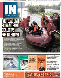 capa Jornal de Notícias de 22 dezembro 2019