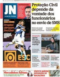 capa Jornal de Notícias de 23 dezembro 2019