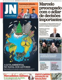 capa Jornal de Notícias de 25 dezembro 2019