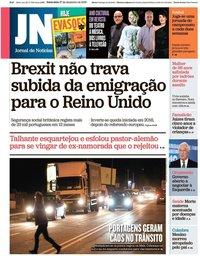 capa Jornal de Notícias de 27 dezembro 2019