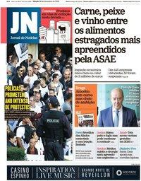 capa Jornal de Notícias de 28 dezembro 2019