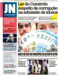 capa Jornal de Notícias de 30 dezembro 2019