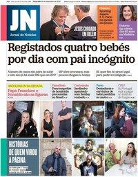 capa Jornal de Notícias de 31 dezembro 2019