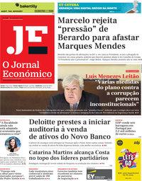 capa Jornal Económico de 20 dezembro 2019