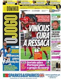 capa Jornal O Jogo de 1 dezembro 2019