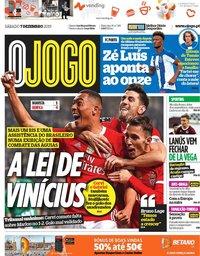 capa Jornal O Jogo de 7 dezembro 2019