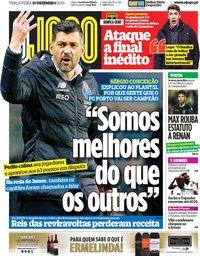 capa Jornal O Jogo de 10 dezembro 2019