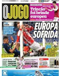 capa Jornal O Jogo de 13 dezembro 2019