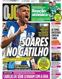 capa Jornal O Jogo de 17 dezembro 2019