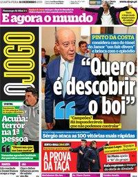capa Jornal O Jogo de 18 dezembro 2019