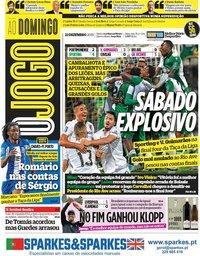 capa Jornal O Jogo de 22 dezembro 2019